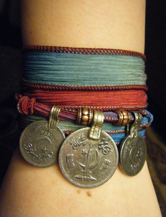 Spring Caravan Boho Silk Wrap Bracelet with von AirSignStudios, $22.00