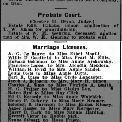Houston Post 9 nov 1919 pg 24 Herman Goldman marriage to Annie Arshawsky
