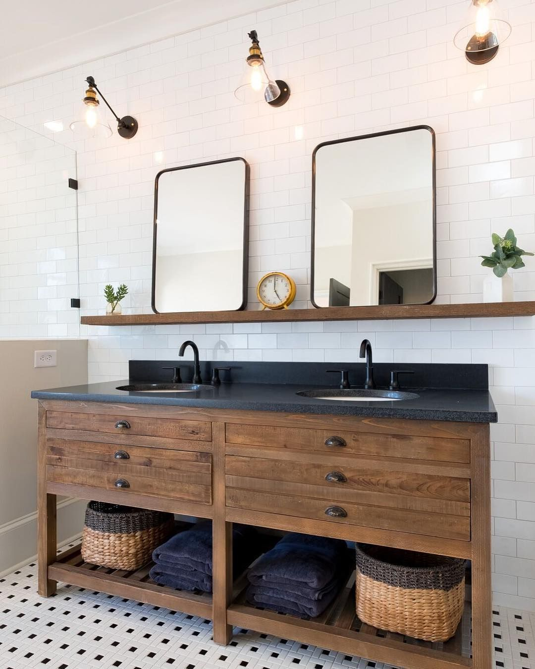 9 Bathroom Backsplash Ideas That Prove The Bathroom Can Be The Prettiest Room In The Hous Bathroom Backsplash Modern Farmhouse Bathroom Simple Bathroom Designs