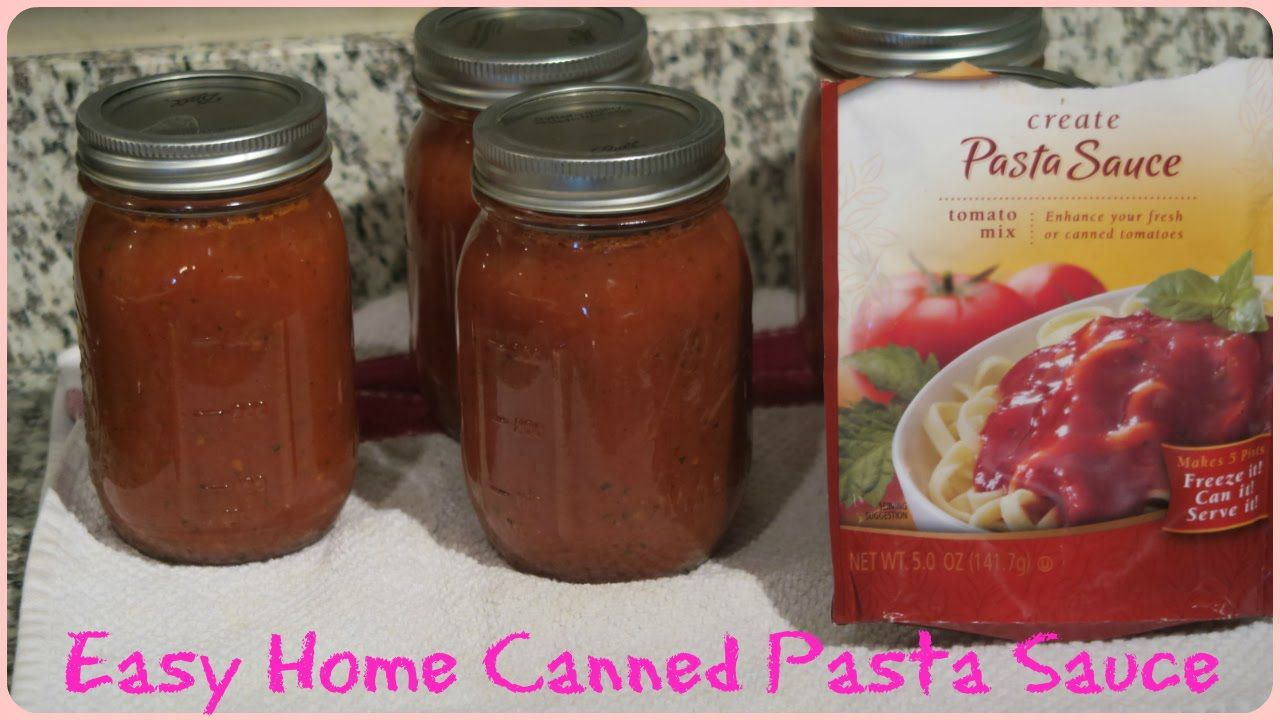 HOME CANNED PASTA SAUCE