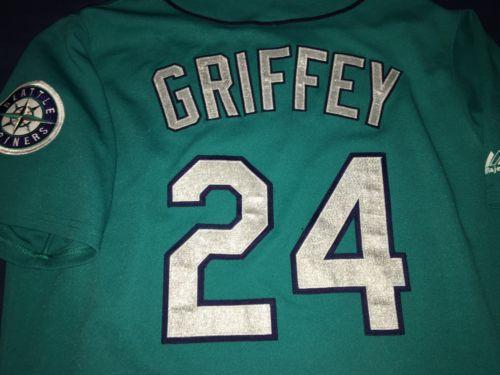 buy online 97445 5497b Ken Griffey Jr. Teal Seattle Mariners M s Authentic Jersey ...