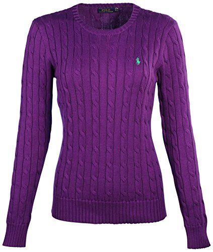 707dad115d59eb Polo Ralph Lauren Women's Cable Knit Crew Sweater-Royal Lilac-XS RALPH  LAUREN http://www.amazon.com/dp/B013GXC30W/ref=cm_sw_r_pi_dp_zdlZwb1EPYCEY  ...