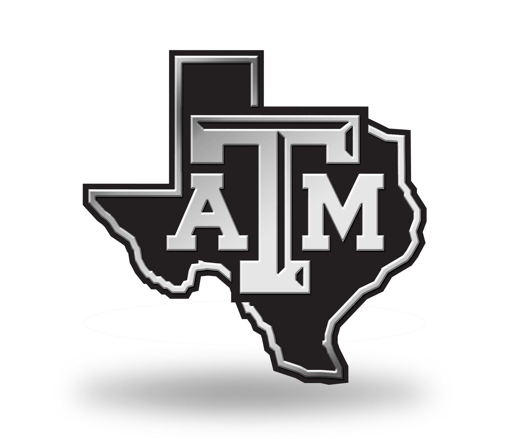 Texas A Amp M Aggies Logo 3d Chrome Auto Emblem New Truck Or
