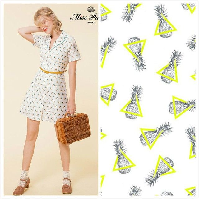 Miss Patina Lady of Leisure dress in pineapple print - perfect for summer holidays!!  #misspatina