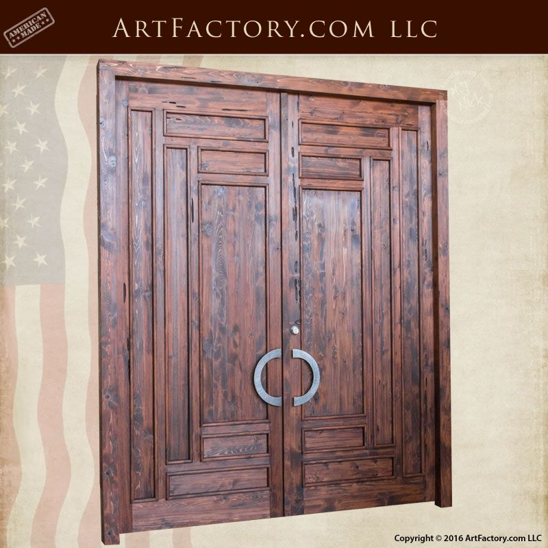 Slim panel Craftsman style Solid Wood Exterior Door - CSW1200 ...