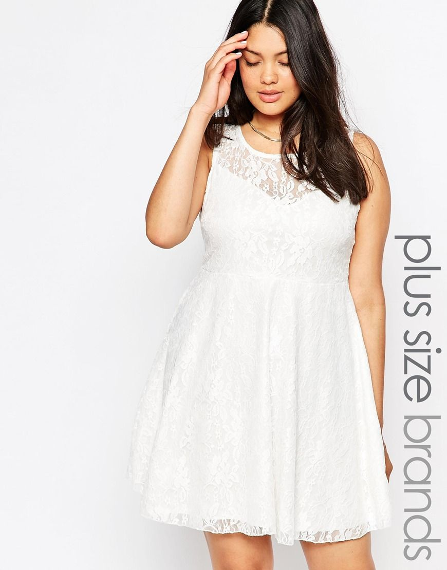 at asos Sequin Lace Skater Dress   #4 - Curvy Girl Fashion ...
