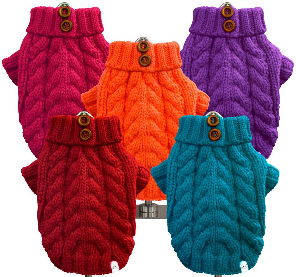 Urban Knit Sweater West Bark Pets Knitted Dog