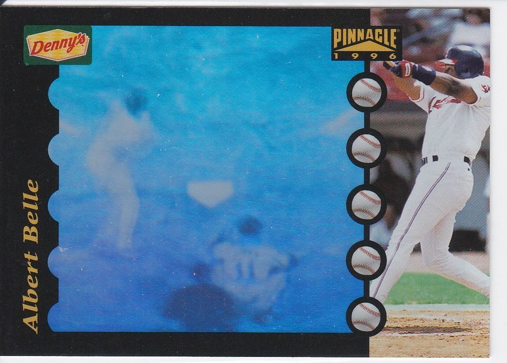 1996 Pinnacle Dennys Hologram Albert Belle Cleveland Indians Sports