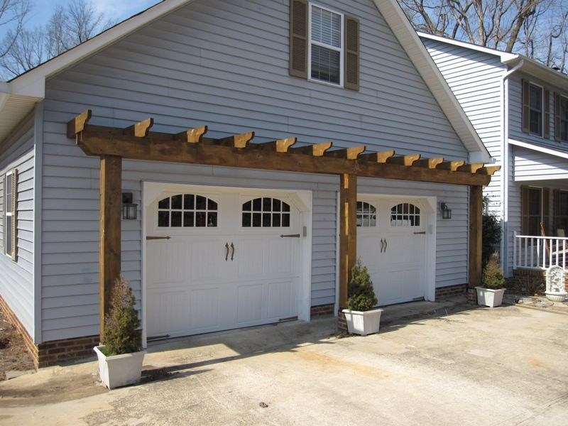 Vinyl Arbor Over Garage Door Garage Trellis Door Pergola
