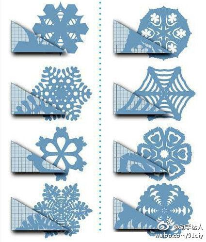 grab a piece of paper and cut out your snowflakes
