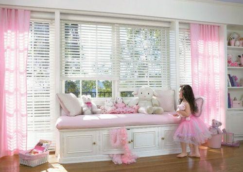Kinderzimmer kleine Prinzessin-rosa Sitzbank | Danic Room ...