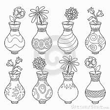Resultado De Imagem Para Desenhos De Vasos De Barro Para Colorir
