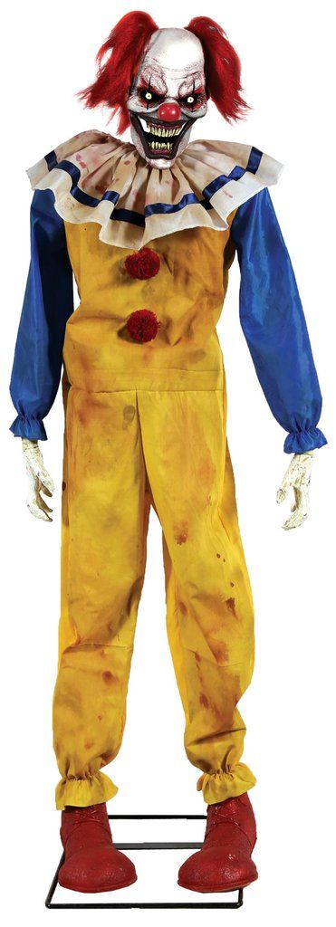 twitching clown animated halloween prop halloween decoration