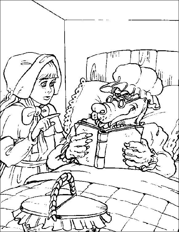 Image detail for -Coloring pages little red riding hood ...