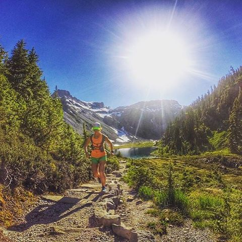 Welcome to #RunnerLand  #Photo: @happytrigirl  #TBT to Bagley Lakes trail. I love running here! #bagleylakestrail