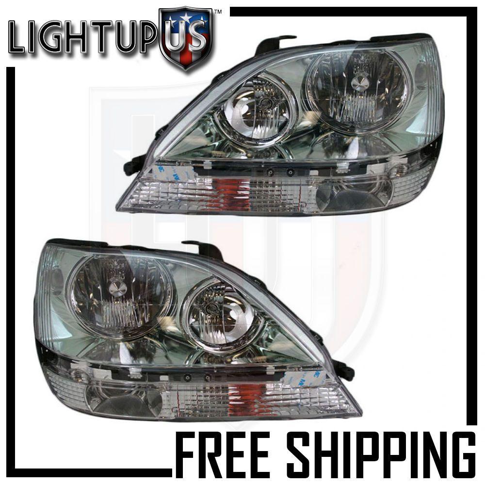 Headlights Headlamps Left /& Right Pair Set NEW for 99-00 Lexus RX300