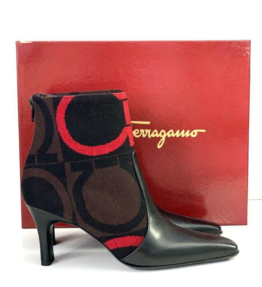 Nib Salvatore Ferragamo Size 6 B Serenata Ankle Boots Bootie Black New Ebay In 2020 Salvatore Ferragamo Boots Ferragamo