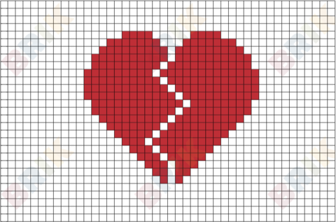 Broken Heart Pixel Art Graph Paper Art Melty Bead Designs Pixel Art