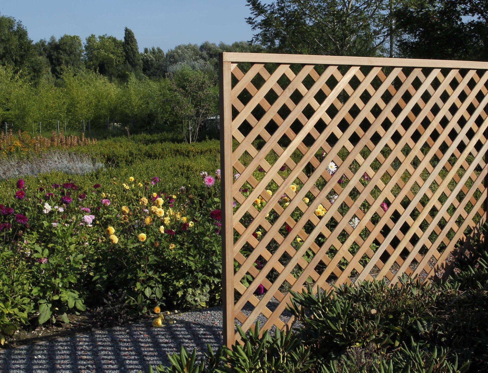 Treillis En Bois : treillis de maillage losange en bois exotique treillis ~ Premium-room.com Idées de Décoration
