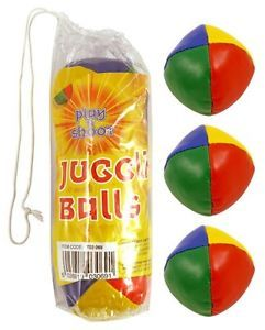 NEW 3 x TRADITIONAL JUGGLING BALLS CIRCUS BEANBAG CLOWN LEARN TO JUGGLE COLOURED