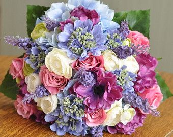 Scabiosa Wedding Flowers - blue, lavenders, purple, pinks and white.