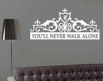 Anfield Gate Wall Decal Liverpool Sticker For Laptop Macbook You Ll Never Walk Alone Vinyl Decal Ynwa Wall Decals You Ll Never Walk Alone Alone Tattoo