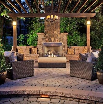 53 Most amazing outdoor fireplace designs ever Cabañas de montaña