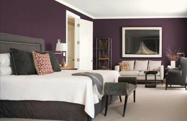 Schlafzimmer Wandfarbe Lila