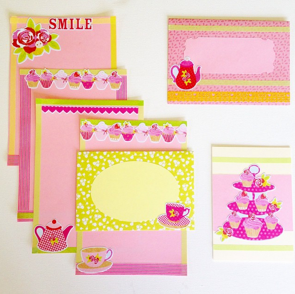 Sweet Stationery made by www.instagram.com/kmck85 Find more Snail Mail ideas and penpals on www.snailmail-ideas.com or go to the webshop www.snailmailideas.etsy.com
