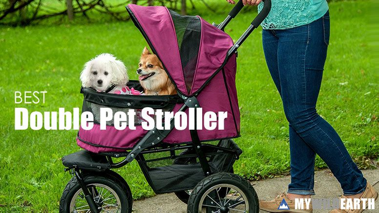 Double Dog Stroller for 2 Dogs Dog stroller, Pet