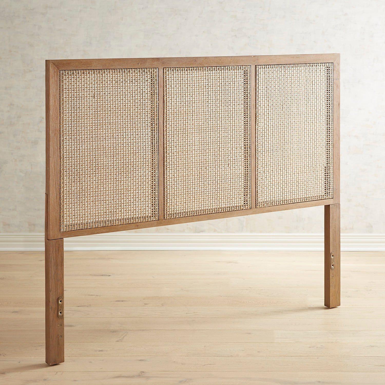 Kenai Natural Rattan Stonewash Queen Headboard   Furniture ...