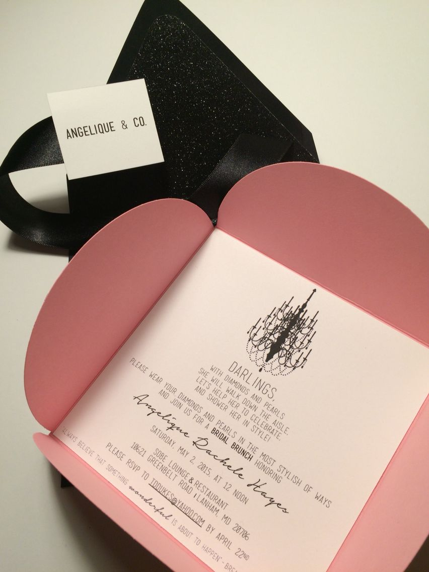 Pink & Black Breakfast at Tiffany\'s Invitations | PTD #PTD ...