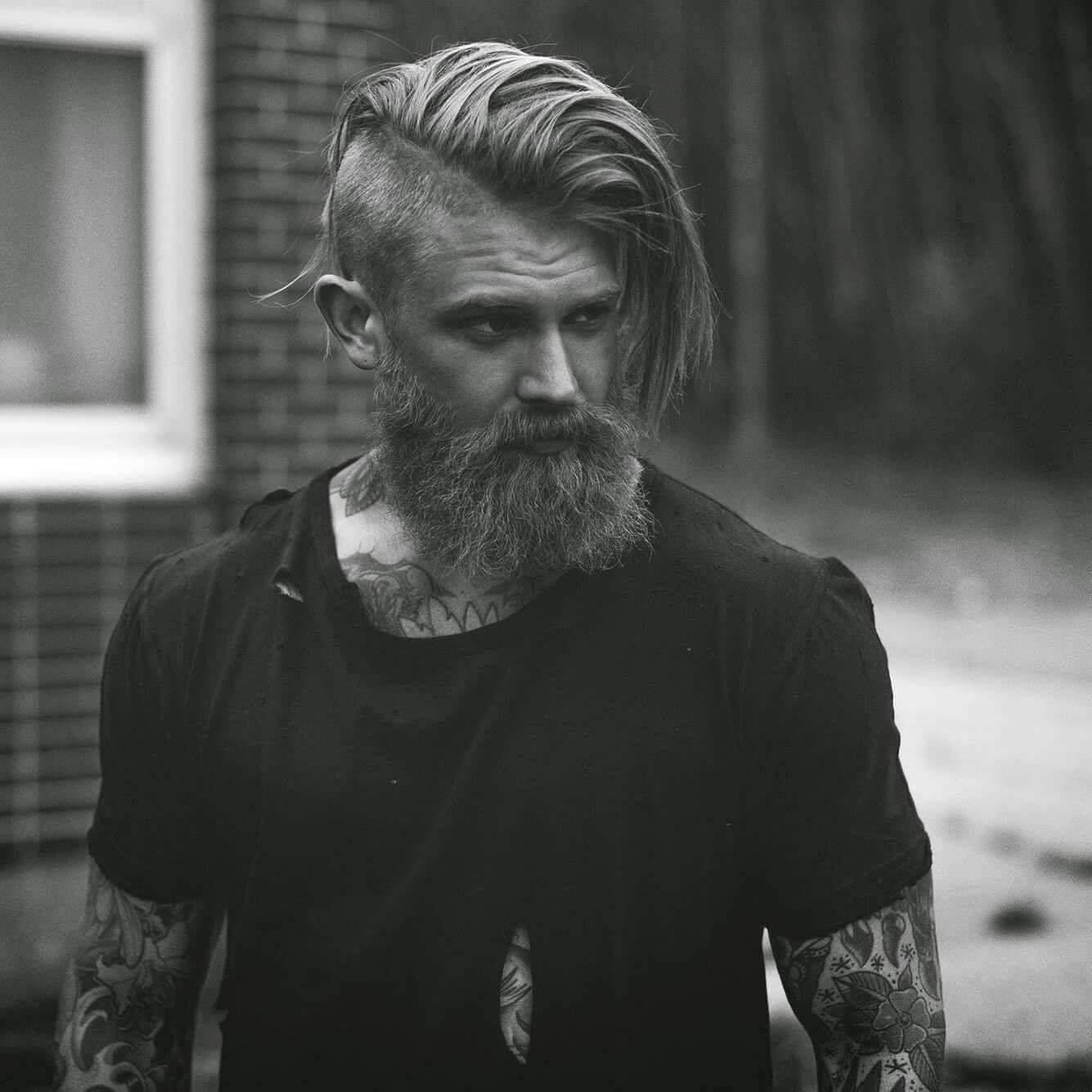 Josh Mario John Mens Hairstyles With Beard Beard Haircut Undercut With Beard