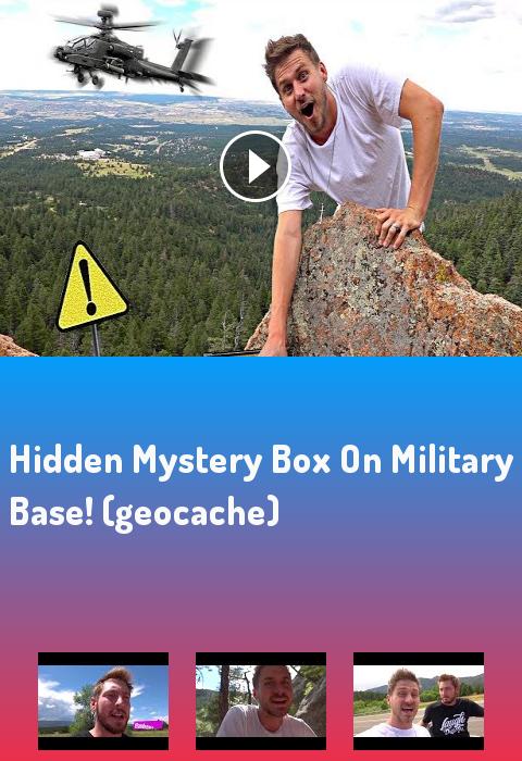 HIDDEN MYSTERY BOX ON MILITARY BASE! (geocache)