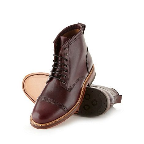 Hammond & Co. by Patrick Grant Designer plum leather brogue boots- at  Debenhams.