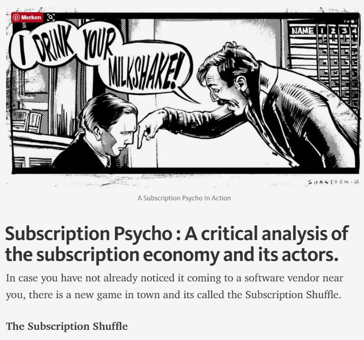 Subscription Psycho : Analysis Of The Subscription Economy