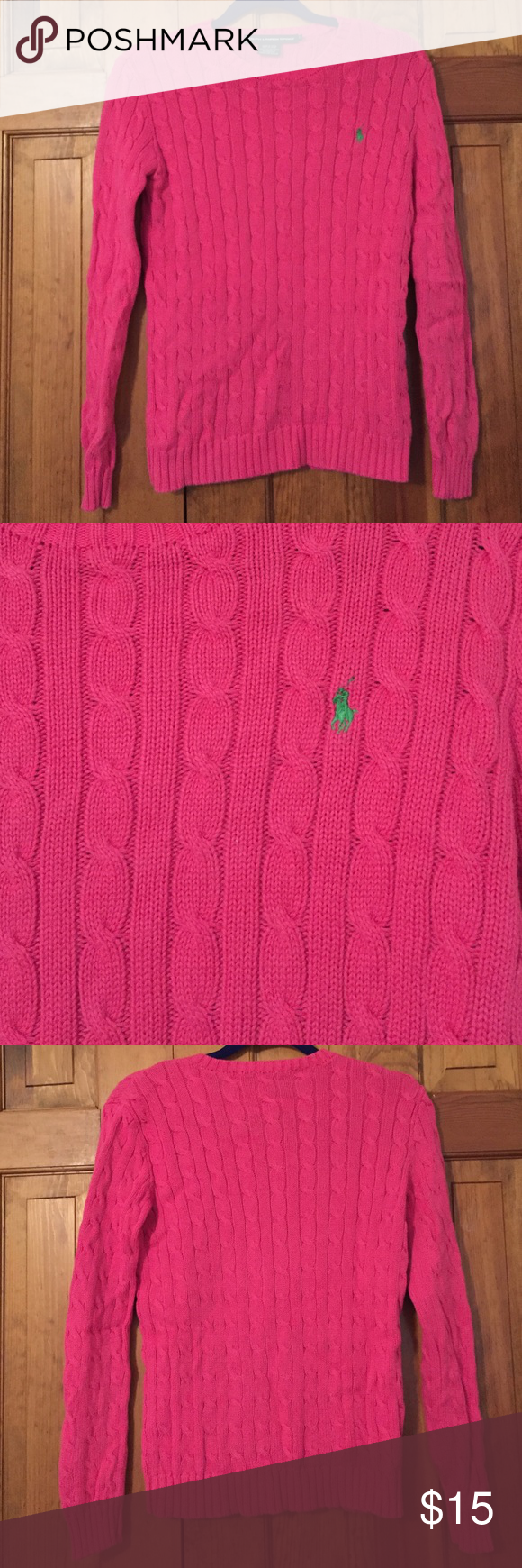 Ralph Lauren Cable Knit Sweater Like new, Ralph Lauren Cable Knit Sweater Ralph Lauren Sweaters Crew & Scoop Necks