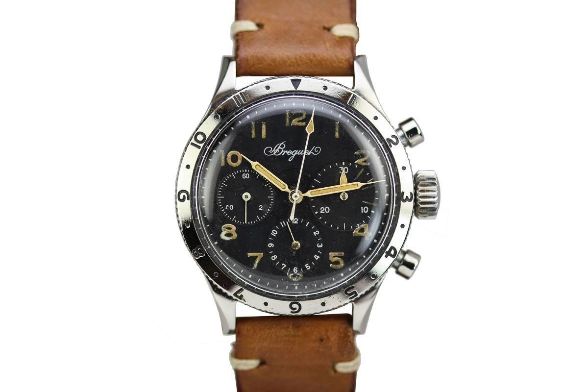 1950 Breguet Type 20 Watch For Sale Mens Vintage Chronograph Watch Sale Vintage Men Watches