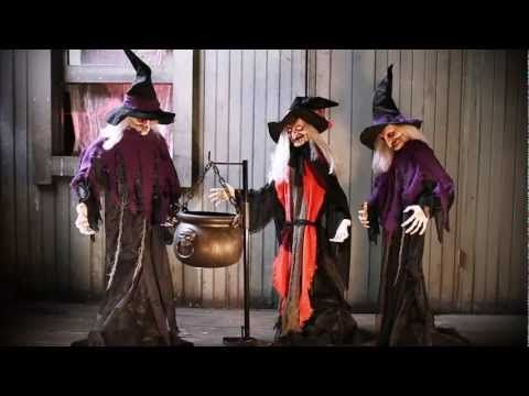 Halloween Witches with Cauldron Video