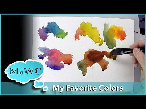 Watercolor Painting Line Value And Color Study Youtube