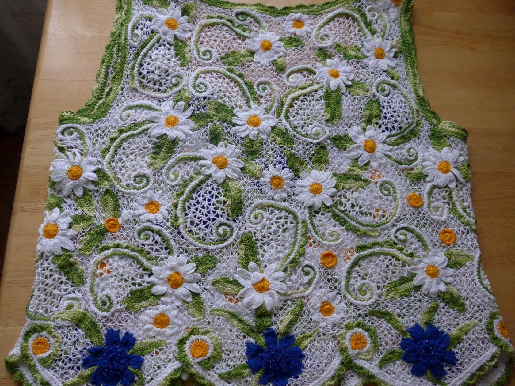 Одноклассники | маки ромашки полевые цветы | Pinterest | Crochet ...