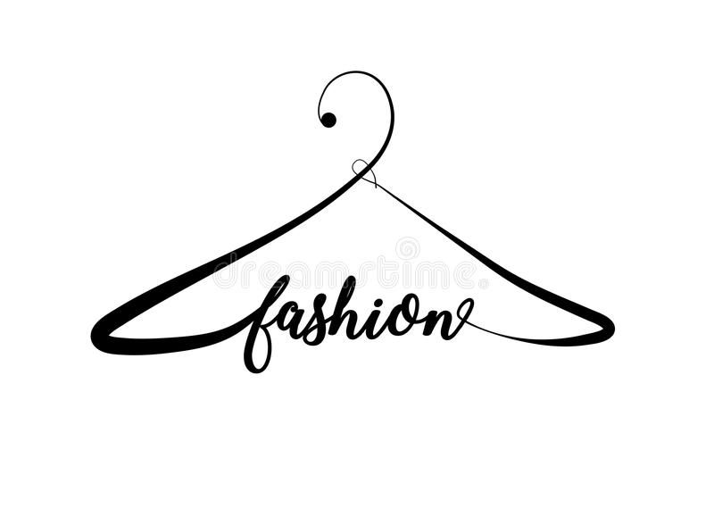 Photo About Creative Fashion Logo Design Vector Sign With Lettering And Hanger Symbol Logotype Fashion Logo Design Boutique Logo Design Clothing Brand Logos