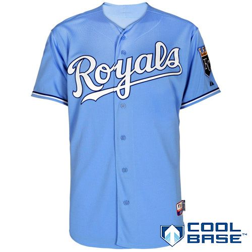 97afe4bf1 Kansas City Royals Authentic Alternate Home 1 Cool Base Jersey ...