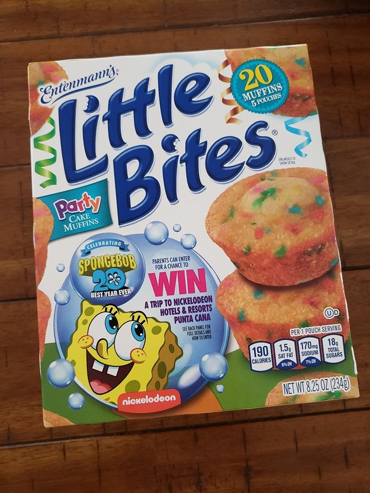 Get your little bites muffins with spongebob 20th