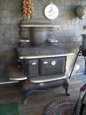 Antique wood cook stove victor duchess fogones for Cocinas economicas de lena antiguas