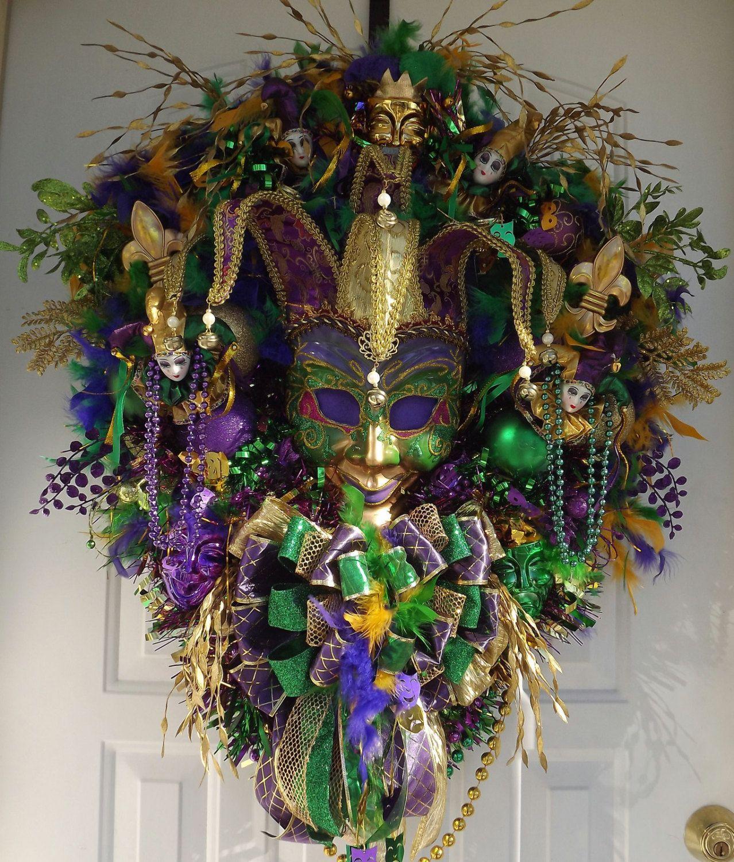 Mardi gras wreath fat tuesday custom order by wreathsbykimberly mardi gras wreath fat tuesday custom order by wreathsbykimberly 21500 arubaitofo Choice Image