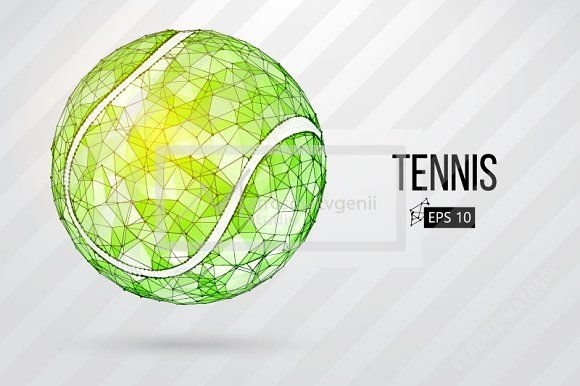 Silhouette Of Tennis Balls Set Ball Drawing Tennis Balls