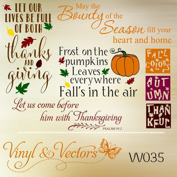 Thanksgiving svg vector cutting file vinyl decals crafts graphic design silhouette dxf file svg