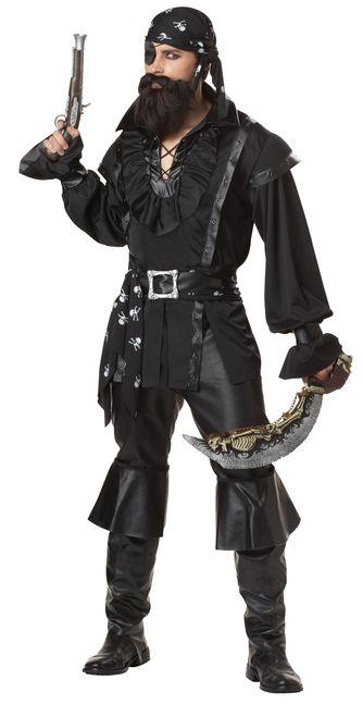 Dark Plundering Pirate Men\u0027s Costume Costumes and Dark