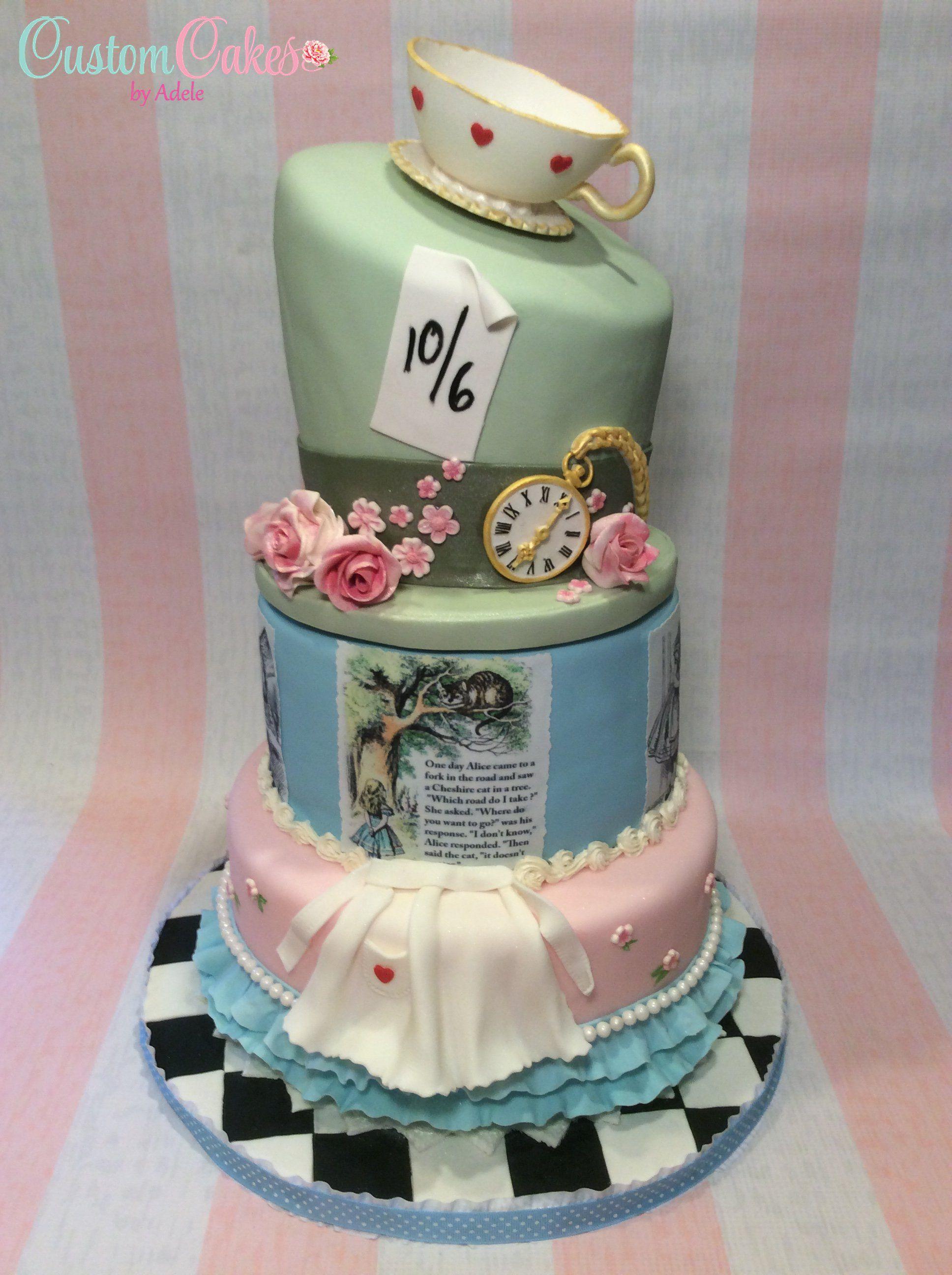 Alice in wonderland cake sweet 16 cake themed cakes